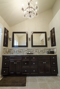 Custom vanity with matching mirrors for your Skidaway Island or Atlanta Bathroom.
