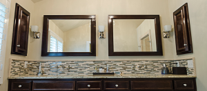 Custom Cabinets and Matching Trim in Bathroom Renovation in Atlanta and Savannah