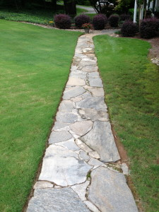 Stone walkway for your Atlanta or Savannah home.